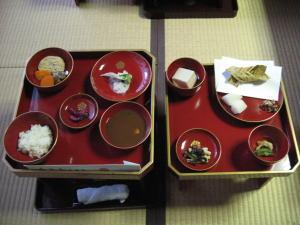 永平寺の昼食