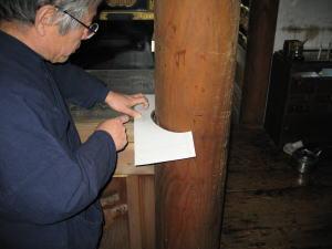 寺院用 須弥段製作--方取り--