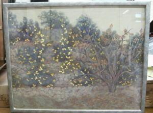 絵画--ミカン畑--