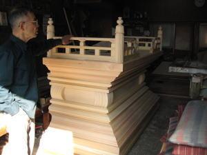 須弥壇製作--木地-