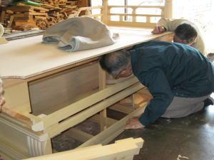 須弥壇製作--木地--