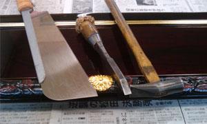 仏壇制作~外金具の取付~
