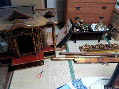 洗濯仏壇の引取